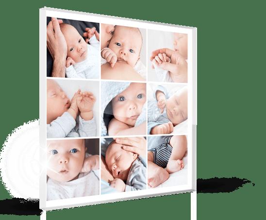 Plexiglas-collage-bebe