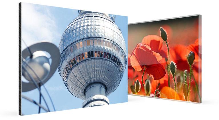 Comparaison photo sur plexiglas et alu-dibond