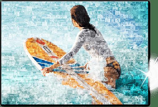 Impression mosaique sur Plexiglas