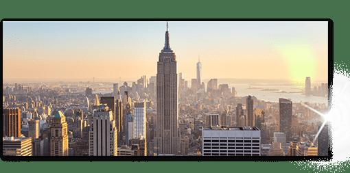 Impression format panoramique sur plexiglas