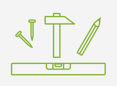 toile accrocher icon outils
